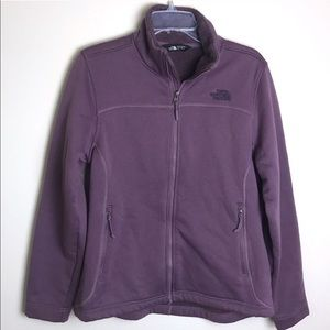 The North Face Timber Fleece Black Plum Full Zip